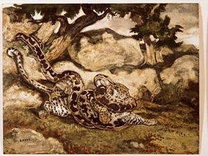 Famous paintings of Snakes: A Python Killing a Tiger