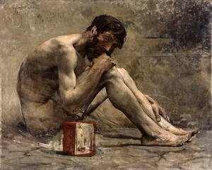 Realism painting reproductions: Diogenes 1905