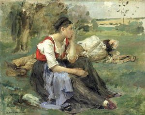 Realism painting reproductions: Resting Peasants 1877