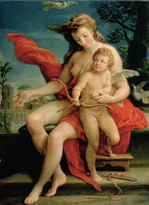 Rococo painting reproductions: Venus and Cupid 1785