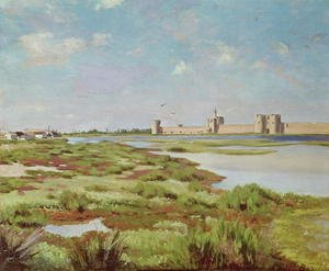 Reproduction oil paintings - Frederic Bazille - The City Walls of Aigues-Mortes 1867