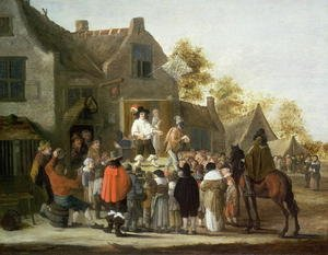 Famous paintings of Villages: Actors at a Village Fair