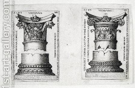 Doric Columns I and II, 1543 by Hans Sebald Beham - Reproduction Oil Painting