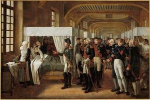 Napoleon visiting the Infirmary of Invalides on 11th February 1808,  1809