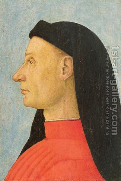 Portrait of a Young Man by Giovanni Bellini - Reproduction Oil Painting