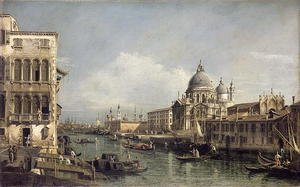 Famous paintings of Ships & Boats: Entrance to the Grand Canal, Venice