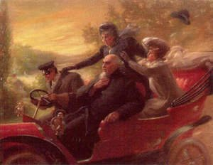 Famous paintings of Cars: Car ride