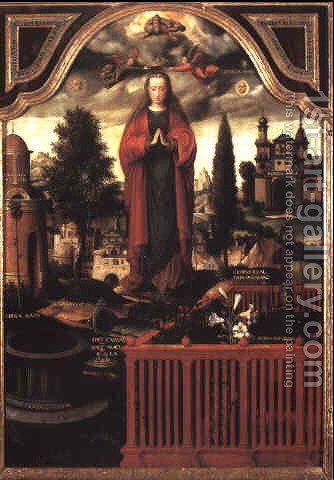 The Immaculate Conception by Ambrosius Benson - Reproduction Oil Painting