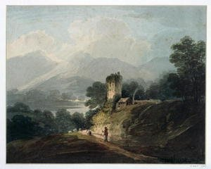 Famous Paintings in Victoria and Albert Museum, London, England: Ross Castle, Killarney, County Kerry