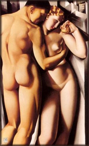 Famous paintings of Nude: Adam and Eve, 1932