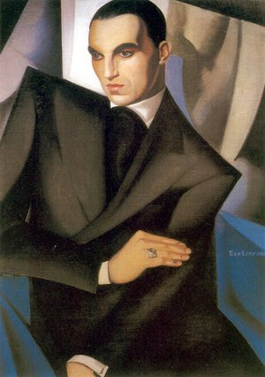 Famous paintings of Men: Portrait of Marquis Sommi, 1925