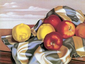 Famous paintings of Apples: Still Life with Apples and Lemons, c.1946