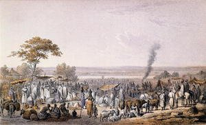 The Market in Sokoto in 1853, from 'Travels and Discoveries in North and Central Africa' by Heinrich Barth