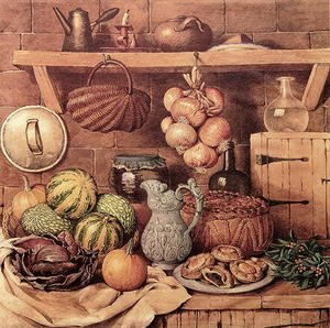 Famous paintings of Christmas: Still life with Christmas Food