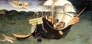 Famous Paintings in Ashmolean Museum, Oxford, UK: St. Nicholas rebuking the Tempest