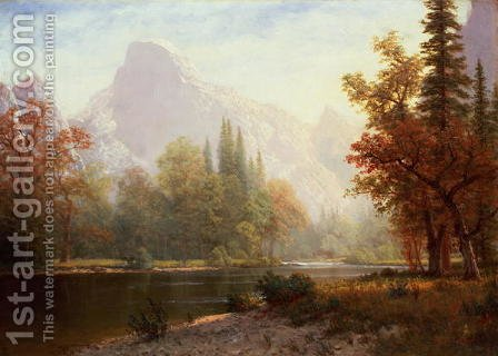 Half Dome, Yosemite by Albert Bierstadt - Reproduction Oil Painting