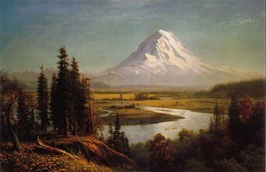 Reproduction oil paintings - Albert Bierstadt - Mount Rainier