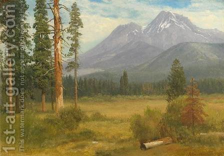 Mt. Shasta, California by Albert Bierstadt - Reproduction Oil Painting