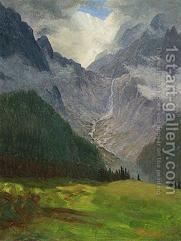 Storm in the Rocky Mountains by Albert Bierstadt - Reproduction Oil Painting