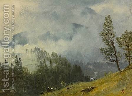 Western Landscape 1880 by Albert Bierstadt - Reproduction Oil Painting