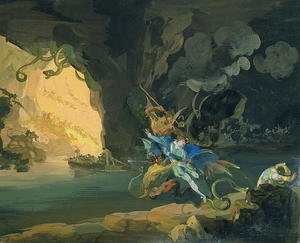 Famous paintings of Caves: Don Juan in Hell