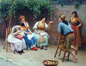 Famous paintings of Apples: Die Plauderei - Chatting