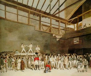Famous paintings of Boxing: A benefit with Randall and Turner sparring, The Fives Court, London