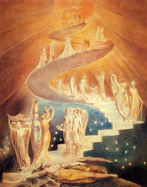 Romanticism painting reproductions: Jacob's Ladder