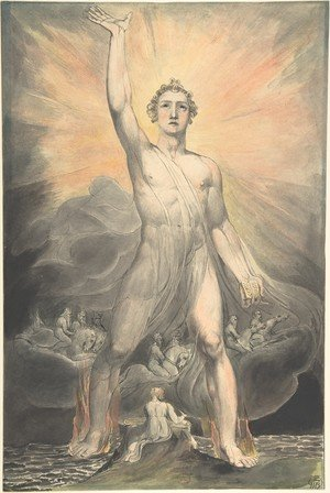 Reproduction oil paintings - William Blake - The Angel of Revelation, c.1805