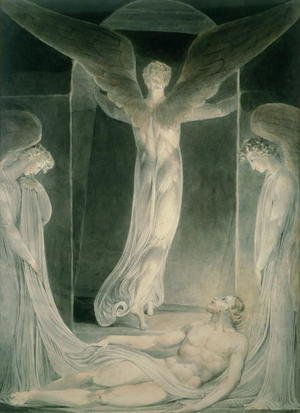Reproduction oil paintings - William Blake - The Resurrection- The Angels rolling away the Stone from the Sepulchre