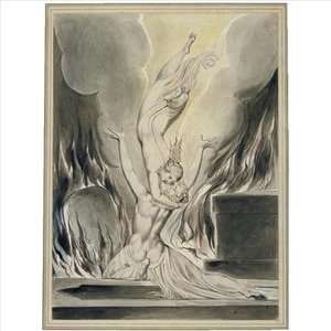 Reproduction oil paintings - William Blake - The reunion of the soul and the body (The re-union of soul and body)