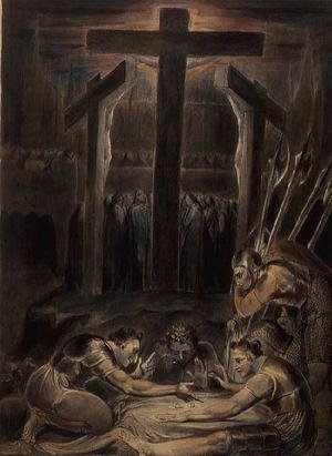 Reproduction oil paintings - William Blake - The Soldiers Casting Lots for Christ's Garments, 1800