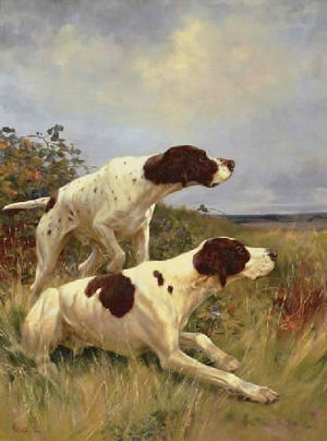 Famous paintings of Domestic Animals: Two pointers on the scent