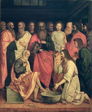Reproduction oil paintings - Boccaccio Boccaccino - Christ Washing the Disciples' Feet