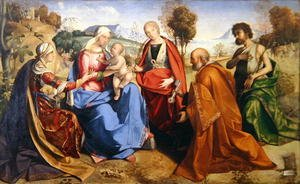Reproduction oil paintings - Boccaccio Boccaccino - The Marriage of St. Catherine, with St. Rosa, St. Peter and St. John the Baptist, 1506