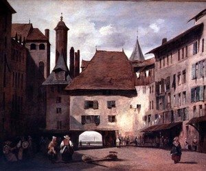 Famous paintings of Squares and Piazzas: Place de Molard, Geneva