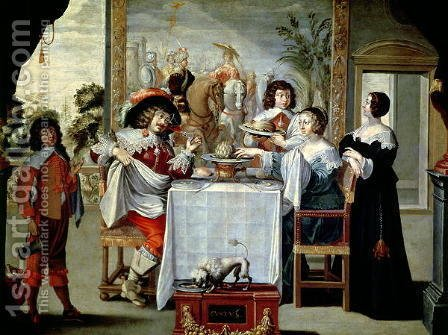 The Five Senses - Taste by Abraham Bosse - Reproduction Oil Painting