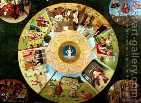 Tabletop of the Seven Deadly Sins and the Four Last Things (2) by Hieronymous Bosch - Reproduction Oil Painting