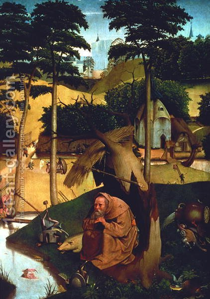 Temptation of St. Anthony 1490 by Hieronymous Bosch - Reproduction Oil Painting