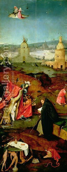 Temptation of St. Anthony (3) by Hieronymous Bosch - Reproduction Oil Painting
