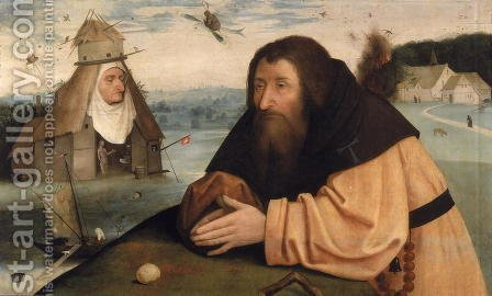 The Temptation of St. Anthony by Hieronymous Bosch - Reproduction Oil Painting