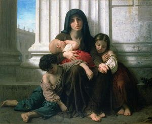 Academic Classicism painting reproductions: Charity or The Indigent Family', 1865