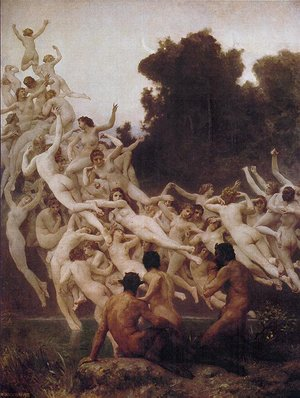 Famous paintings of Nymphs & Satyrs: The Oreads, 1902
