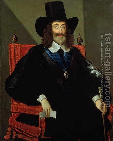 Portrait of King Charles I by Edward Bower - Reproduction Oil Painting
