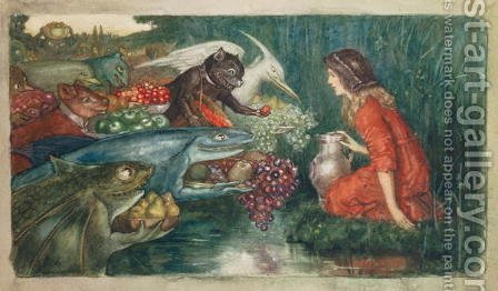 Goblin Harvest, c.1910 by Amelia M Bowerley or Bauerle - Reproduction Oil Painting
