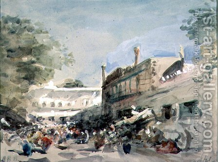 Street Scene in Delhi by Hercules Brabazon Brabazon - Reproduction Oil Painting