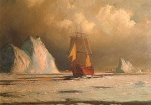Reproduction oil paintings - William Bradford - Working Through the Ice in Melville Bay