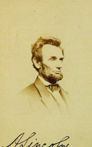 Famous paintings of Men: Abraham Lincoln 1864