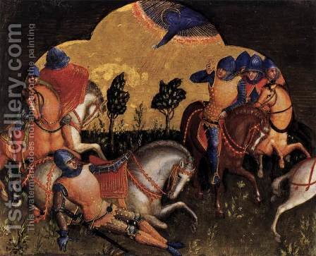 Lorenzo Veneziano: Conversion of Paul c 1370 - reproduction oil painting