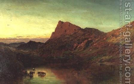 Dolwyddelan by Alfred de Breanski - Reproduction Oil Painting